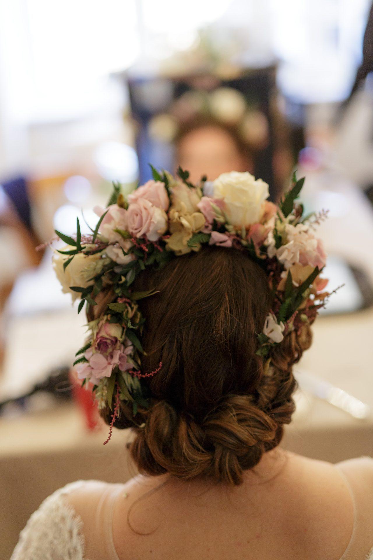 Half Up Wedding Hairstyles Plaits Braids Wedding Make Up And
