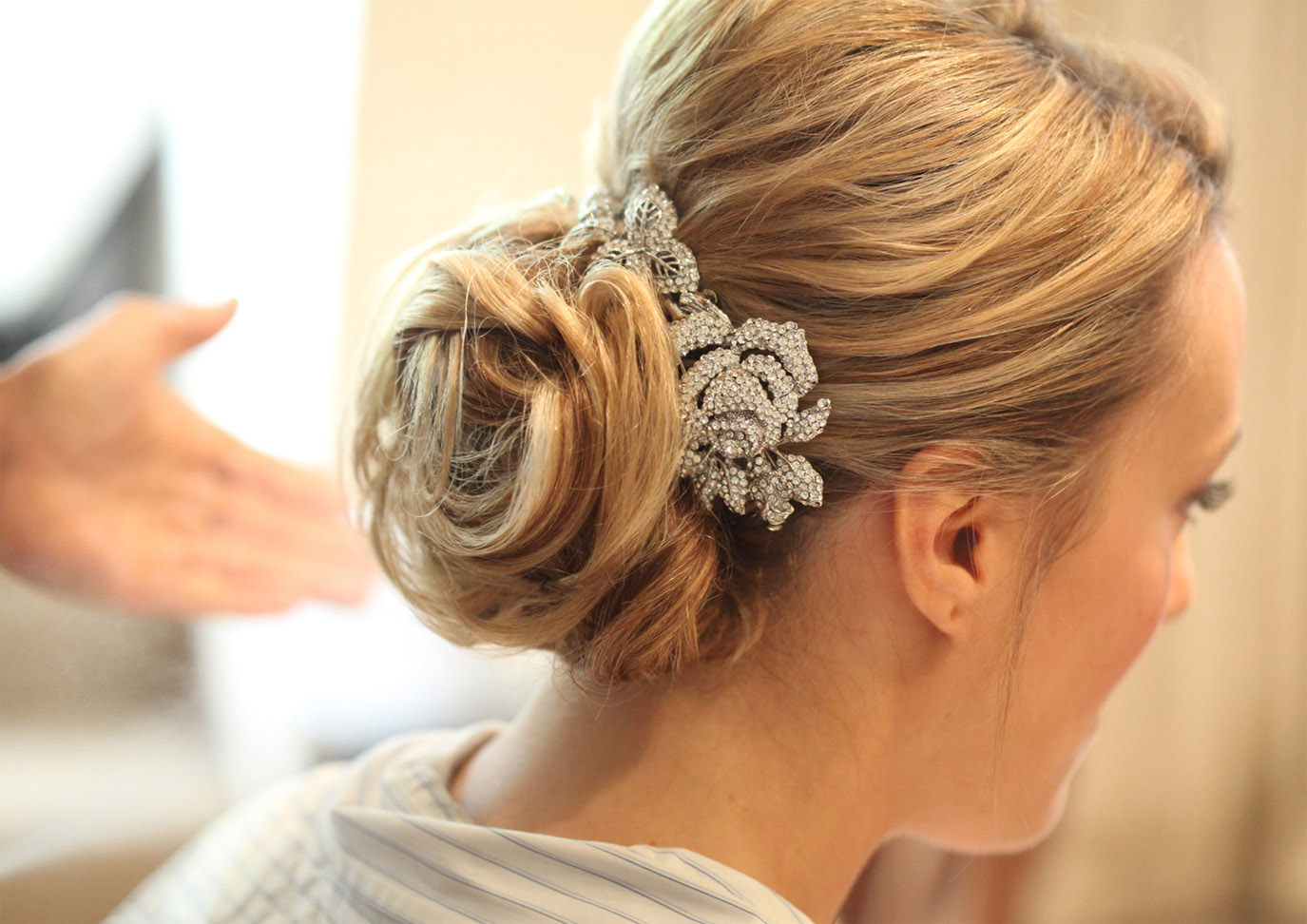 Soft Relaxed Curly Wedding Up-dos