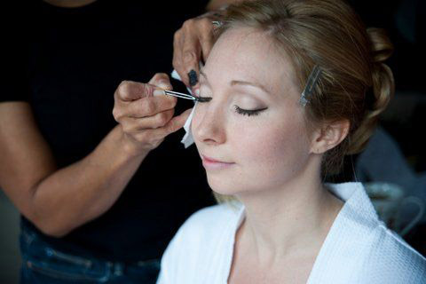 natural wedding makeup and bridal hair and braided hairstyle by Pam Wrigley London Surrey Berkshire