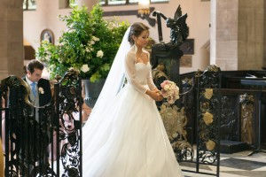 Bridal makeup and hair for a bride. Plus bridal hairstyles for brides with long hair by wedding makeup artist and bridal hair stylist Pam Wrigley in London