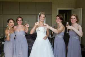 wedding photos. Natural bridal makeup and hair down bridal hairstyles for brides with short hair. Plus makeup by wedding makeup artist and bridal hair stylist Pam Wrigley in London.