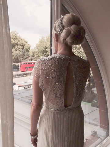vintage bridal hair & makeup by Pam Wrigley in London.