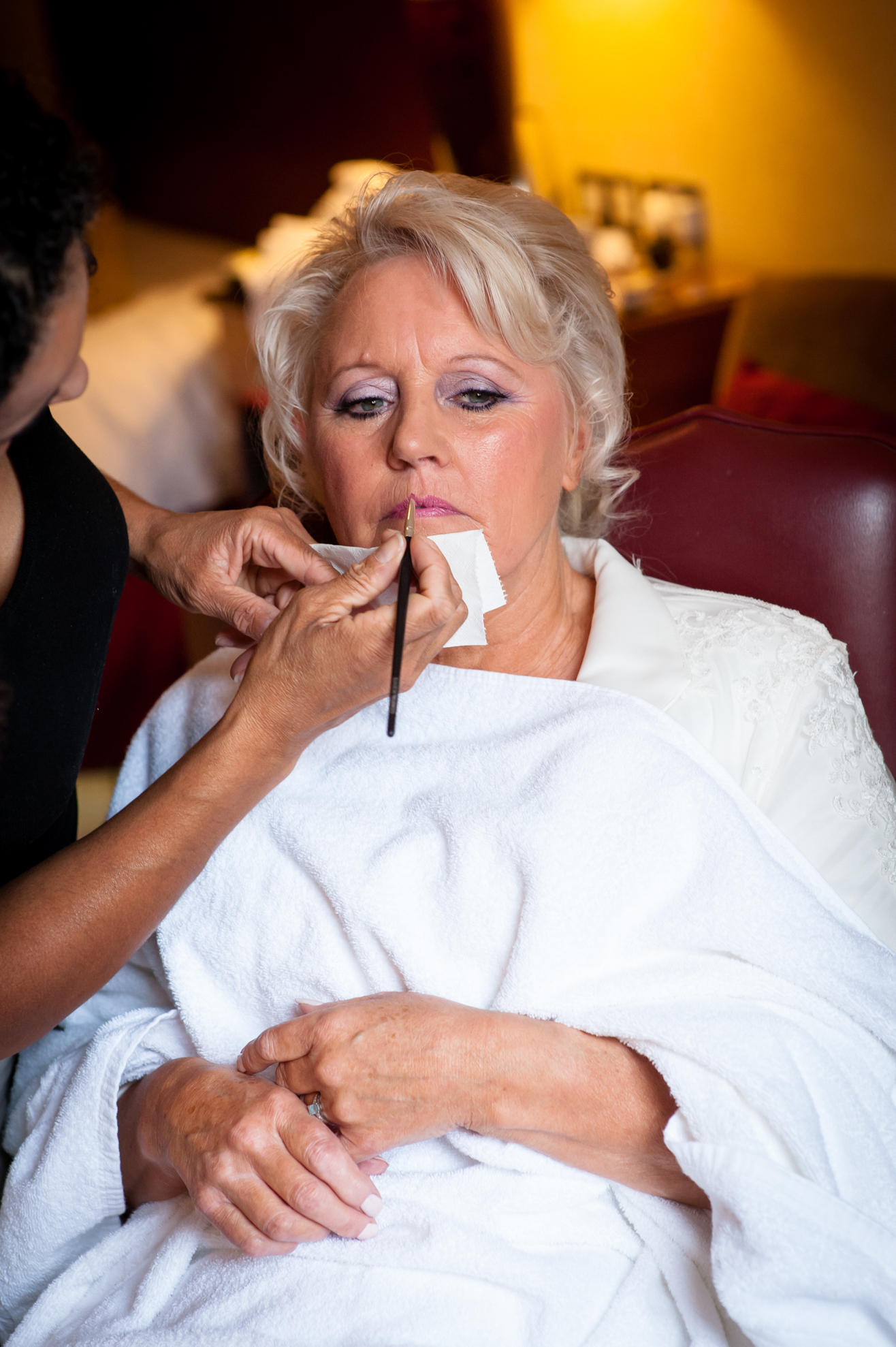 smoky makeup for a mature bride and bridal hairstyles for brides with short hair, by wedding makeup artist and bridal hair stylist Pam Wrigley in London