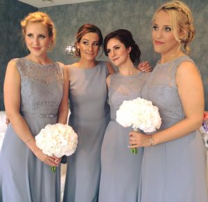 real brides. real brides. Smokey makeup for bridesmaids by wedding makeup artist Pam Wrigley. Plus a beautiful brides hair up, high bun hairstyle created on bridesmaids by bridal hairstylist Pam Wrigley, in London