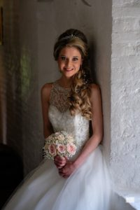 wedding makeup and bride hair style by Pam Wrigley bridal hair stylist Essex London make-up artist