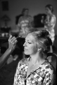 summer wedding portrait makeup and hair by bridal hairstylist wedding makeup artist London natural Kent make-up hair up