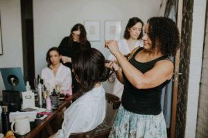 bridal Pam Wrigley wedding makeup hair styles london braiding hair
