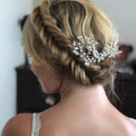 wedding hairstyle hair london braided low thick hair