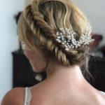 wedding hairstyle hair london braided low thick hair