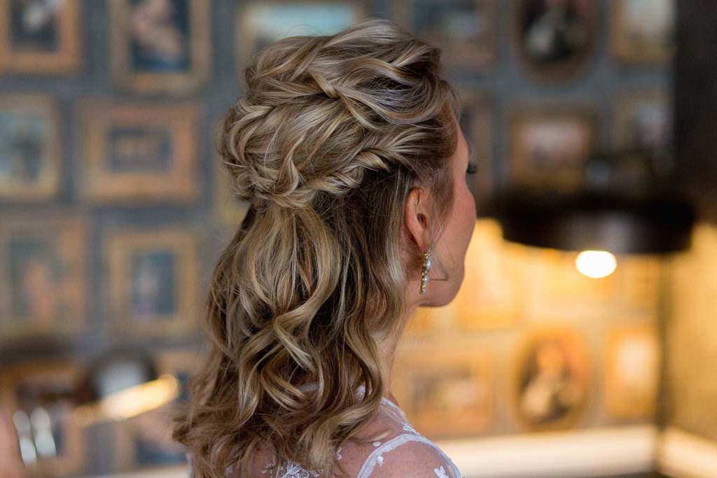 wedding braided hairstyle natural makeup pam wrigley