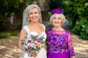 ow bun wedding bridal hair natural makeup Farnham castle