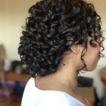 bridal and wedding hairstyles for medium length naturally curly hair, keep your natural curls for your wedding day hairstyle