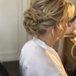 low bun soft curls mature bride wedding bridal hair