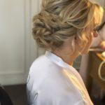low bun soft curls mature bride wedding bridal hair