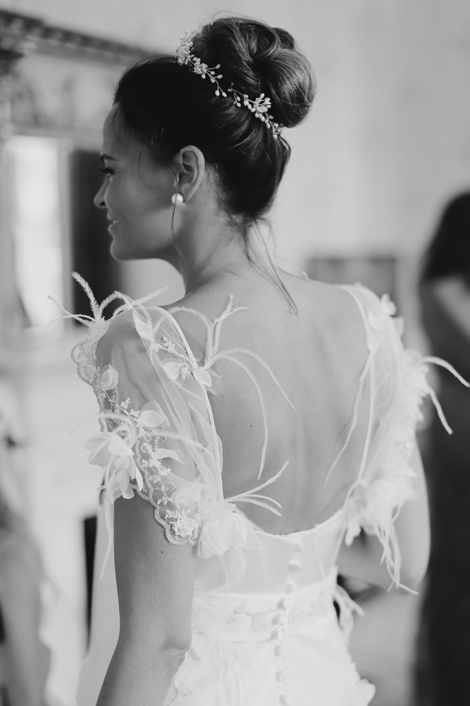 high bun bridal hairstyle wedding makeup by Pam Wrigley London Surrey Berkshire hair-up