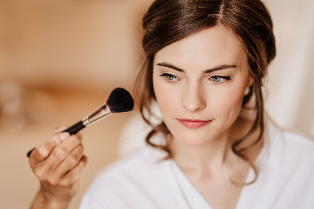 natural dewy bridal wedding makeup and hair by Pam Wrigley London Surrey individual lashes lash extensions