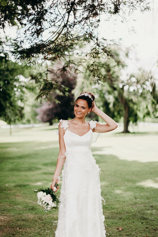 natural dewy wedding makeup and bridal hair in London Surrey and Home Counties by Pam Wrigley