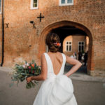 low bun bridal and wedding hairstyle by Pam Wrigley Fulham Chiswick London