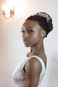 braids wedding day hairstyle afro hair bridal makeup