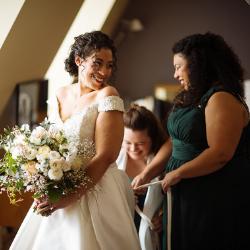 wedding hair styles bridal makeup by Pam Wrigley wedding hairstylist bridal makeup artist London natural curls